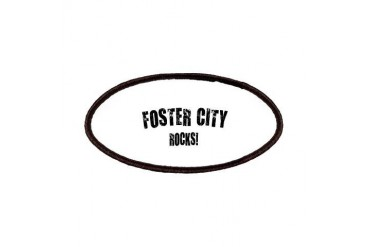 Foster City Rocks California Patches by CafePress