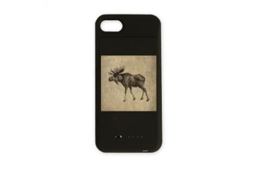 Vintage Moose Vintage iPhone Charger Case by CafePress