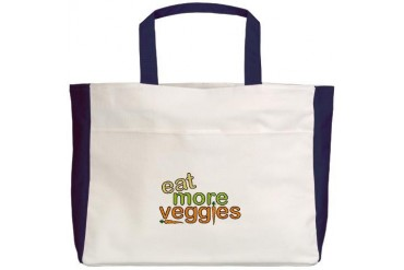 Eat More Veggies Nature Beach Tote by CafePress