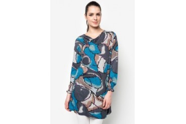 Aqeela Muslimah Wear Blouse With Mosaic Prints