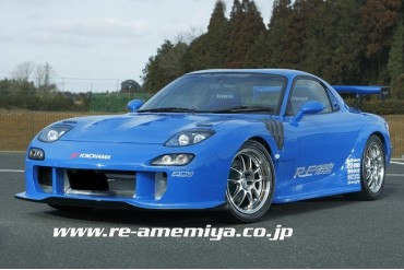 RE Amemiya Facer-GT Front Bumper without Turn Signals Mazda RX-7 FD3S 93-02