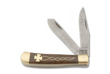 BW Custom Damascus Celtic Clover Trapper