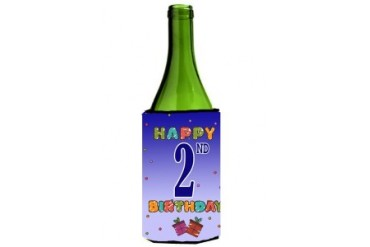 Happy 2nd Birthday Wine Bottle Beverage Insulator Hugger