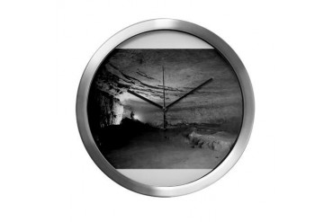 MAMMOTH CAVE Nature Modern Wall Clock by CafePress