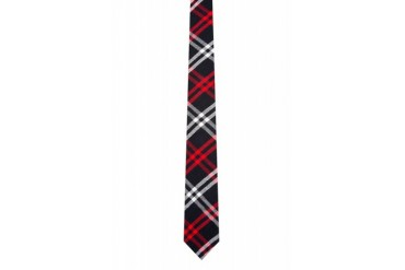 Thom Browne Navy Double Tattersall Tie