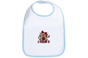 Christmas Ginger Cup Girl Holiday Bib by CafePress