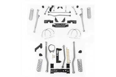 Rubicon Express 4.5 Inch Extreme Duty 4-Link Front/Rear Radius Long Arm Lift Kit - No Shocks JKR344 Complete Suspension Systems and Lift Kits