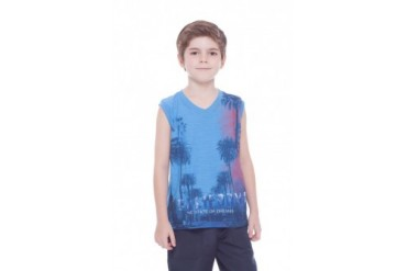 Boy Everyday Graphic Muscle Shirt Kids Summer Cotton Tank Top 2-10Y