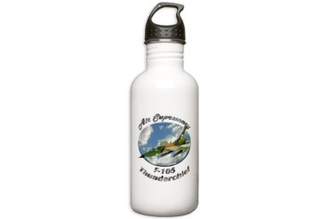 F-105 Thunderchief Hobbies Stainless Water Bottle 1.0L by CafePress