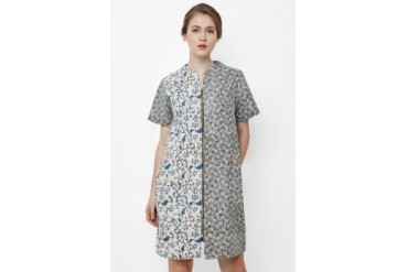 Danar Hadi Mini Dress Batik Indigo