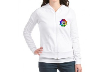 Rainbow Om Gay pride Jr. Hoodie by CafePress