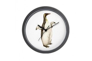 Penquin Penguin Wall Clock by CafePress