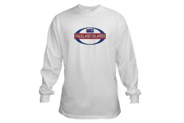 Falkland Islands Islas Malvi Flag Long Sleeve T-Shirt by CafePress