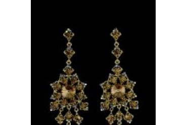 Jim Ball Earrings - Style CE543-Light-Colorado-Topaz