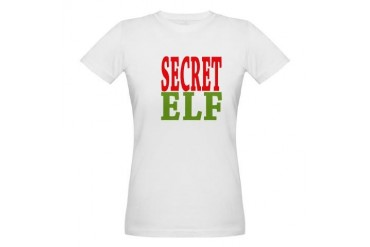 Secret Elf Christmas Organic Women's T-Shirt by CafePress