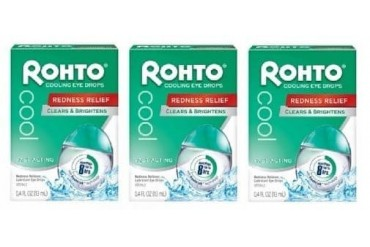 Rohto Cool Redness Relief Cooling Eye Drops 3 Pack
