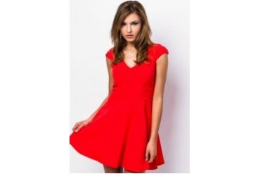 RIVER ISLAND Cap Sleeve Skater Dress