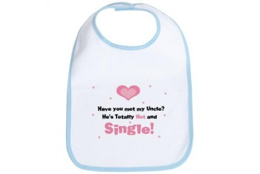 My Hot Single Uncle Pink Baby Bib