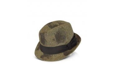 Men's Brown Vintage Braid Print Trilby Hat