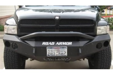 Road Armor Front Stealth Winch Bumper with Pre-Runner Guard in Satin Black 44074B Front Bumpers