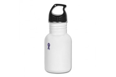 Keep the Ball Rolling Testicular Cancer White Kid' Cancer Kid's Water Bottle by CafePress