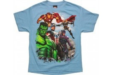 Marvel Comics Avengers Air Support Blue Youth T-Shirt