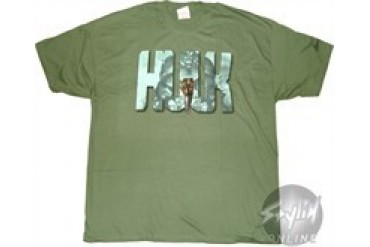 Marvel Comics Incredible hulk Name Banner T-Shirt