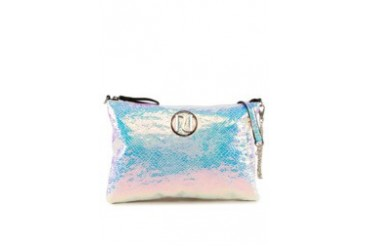RIVER ISLAND Silver Snake Cross Body Bag