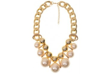 Thick Chain Pearl Necklace