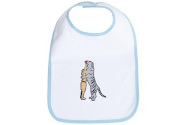 Tiger Feeding Baby Bib by CafePress