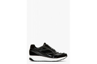 Alejandro Ingelmo Black Panelled Running Shoes