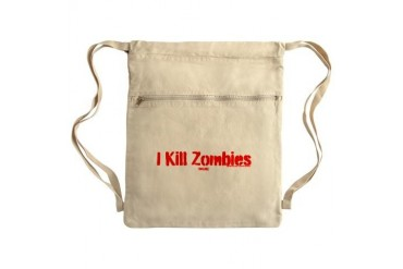 I kill zombies - online Sack Pack Zombie Cinch Sack by CafePress