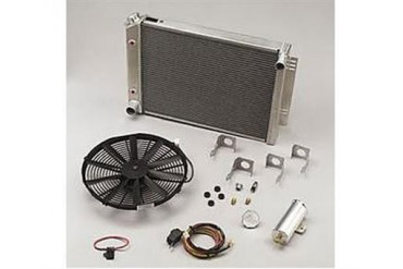 Be Cool Dual Core Radiator Module Assembly for AMC V8 Engines with Standard Transmission 81027 Radiator