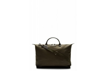 Want Les Essentiels De La Vie Olive Canvas And Leather Hartsfield Weekender Bag
