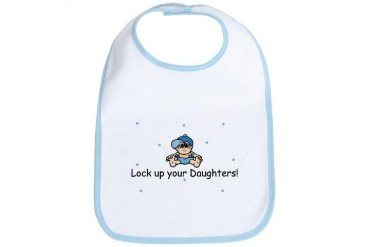 Lock up your Daughters Baby Funny Bib by CafePress