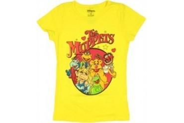 Muppets Circled Group Youth Girls T-Shirt