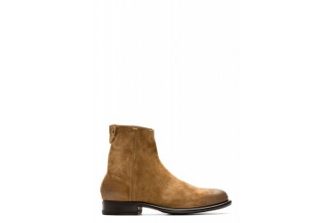 Ps By Paul Smith Brown Suede Claude Mid Zip Boots
