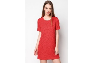 bread n butter Pleated Sleeve Texture Dress