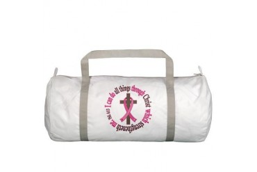 Phil 4:13 Breast Cancer Breast cancer Gym Bag by CafePress