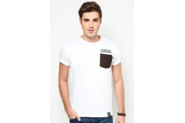 NEVER GROW OLD Contrast Pocket Tee
