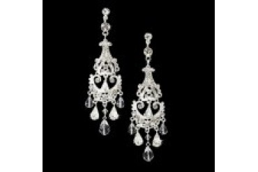 Elegance By Carbonneau Earrings - Style E8319-Silver