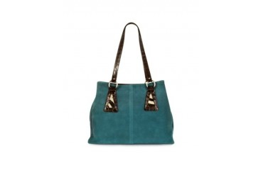Suede and Animal Print Pony-Hair Tote