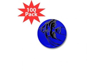 OYOOS Blue Fish design Pets Mini Button 100 pack by CafePress