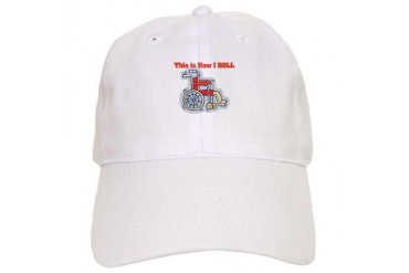 wheelchair.png Funny Cap by CafePress
