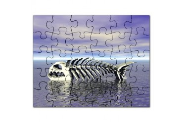Fish Bones Food Puzzle by CafePress