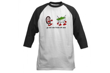 You Don't Make Friends With Salad Jersey Friends Baseball Jersey by CafePress