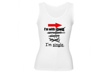 I'm Single Funny Women's Tank Top by CafePress
