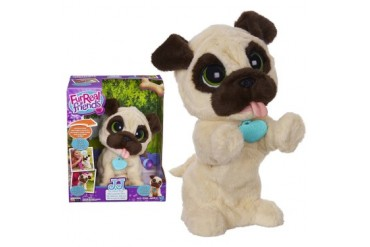 JJ My Jumpin Pug FurReal Friends Dog Barks Puppy Soft Pet Bounce Cute