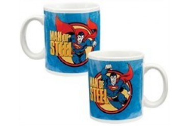 DC Comics Superman Man of Steel Punch Ceramic Mug