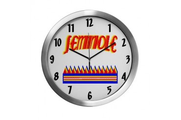 SEMINOLE TRIBE Native american Modern Wall Clock by CafePress